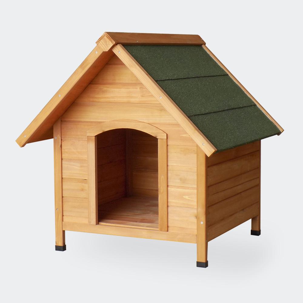 Hundehütte Hundehaus Tierhaus Fichtenholz Teerdach 820x1000x860mm