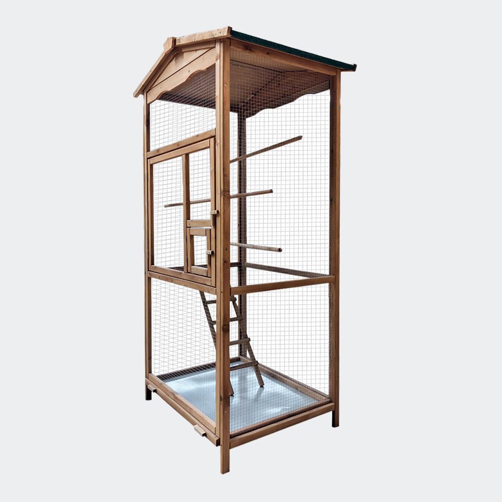 wiltec voli re oiseaux en bois cage oiseaux pour jardin. Black Bedroom Furniture Sets. Home Design Ideas