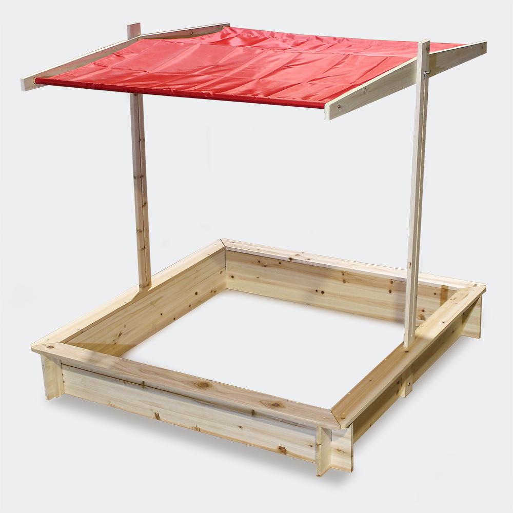 Sandkasten Dachlift Sandkiste absenkbarem Dach UV-Schutz