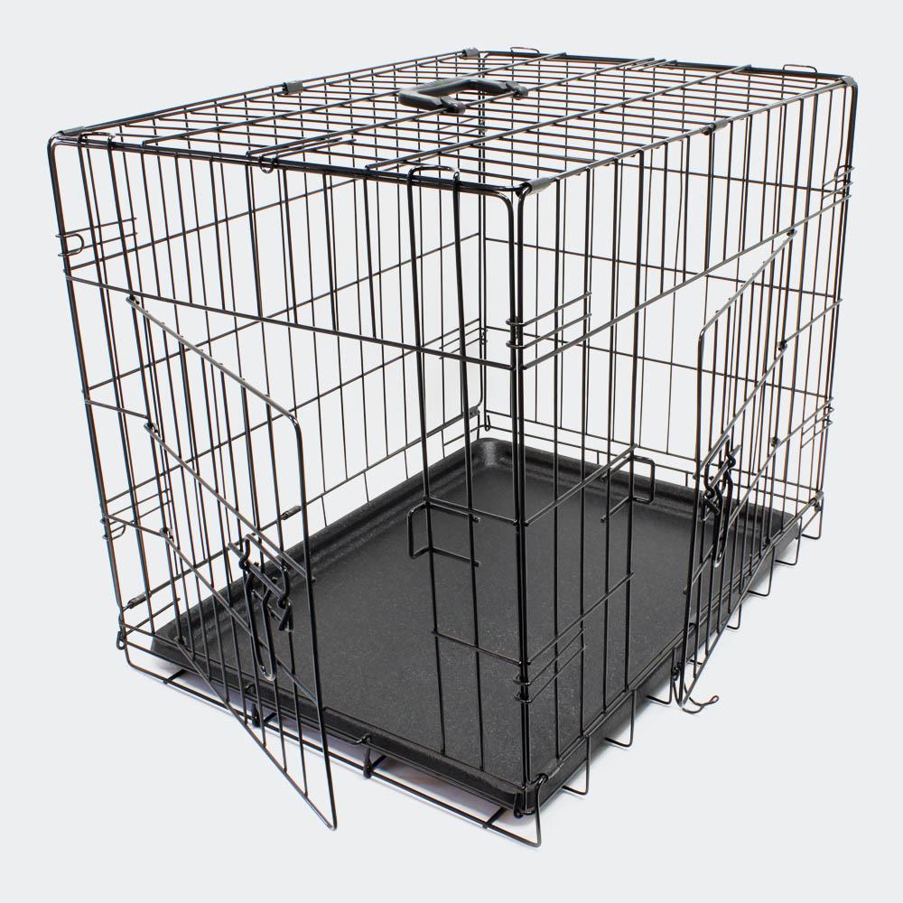 Klappbarer Transportkäfig S für Kleintiere Drahtkäfig Transportbox