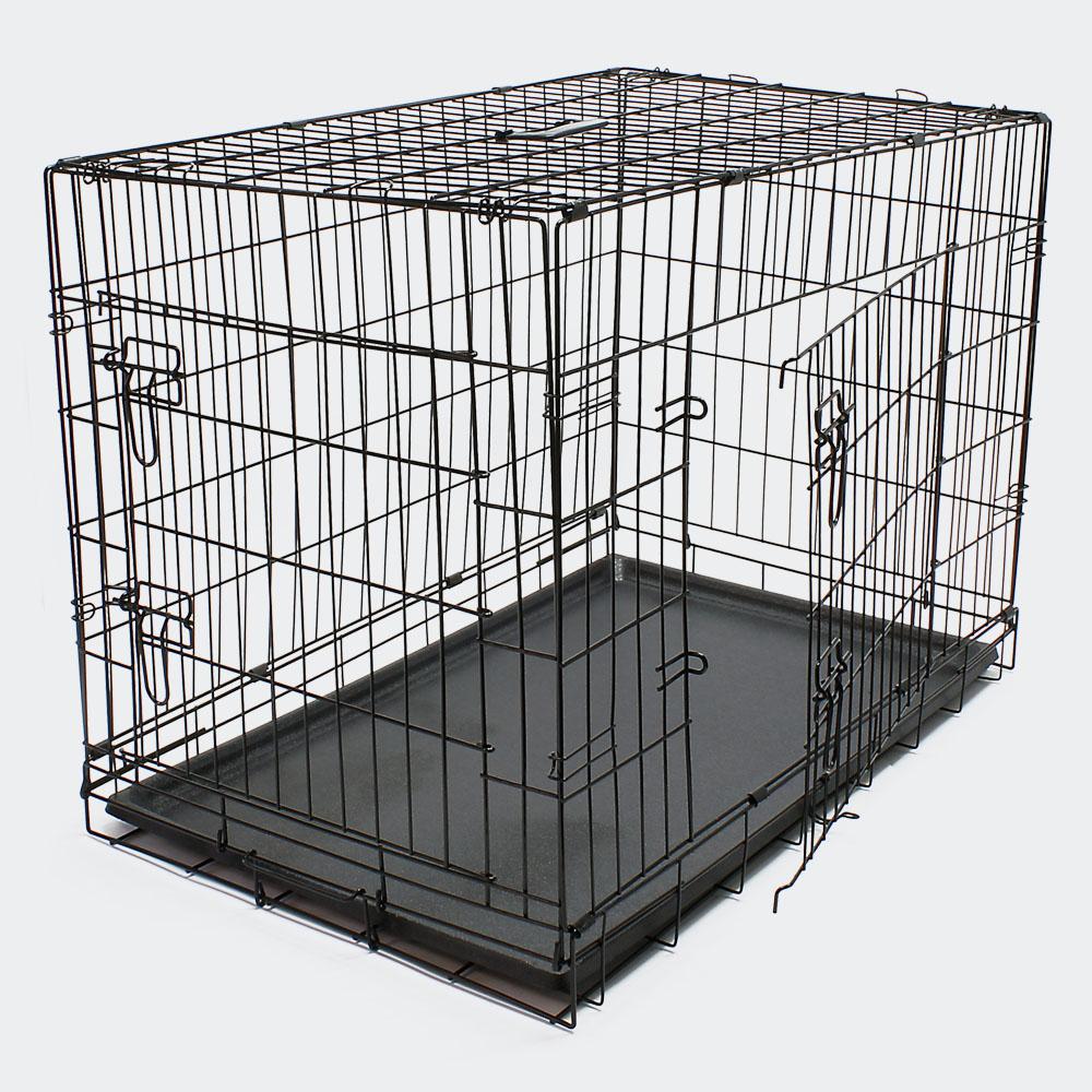 Klappbarer Transportkäfig L für Kleintiere Drahtkäfig Transportbox