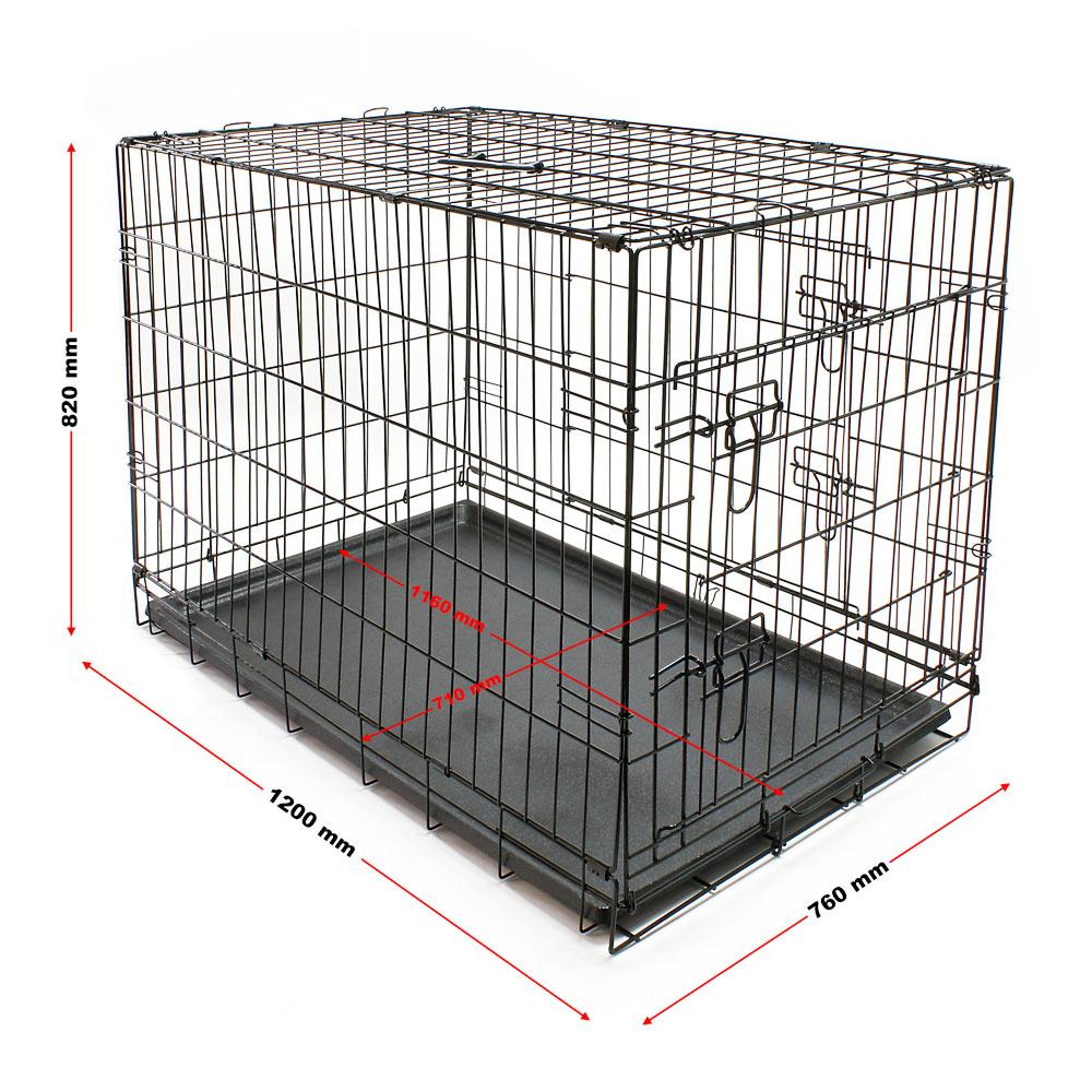 cage transport chien pliable m tallique caisse de transport animal domestique xl ebay. Black Bedroom Furniture Sets. Home Design Ideas