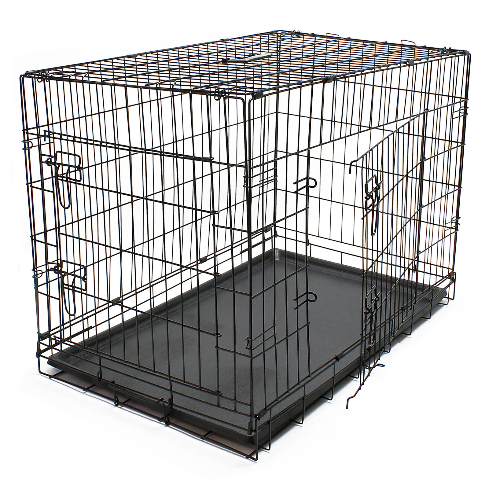 cage transport chien pliable m tallique caisse de. Black Bedroom Furniture Sets. Home Design Ideas