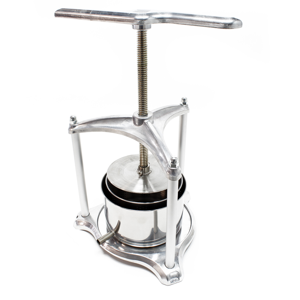 Fruit press Wine press steel 3 l stainless steel basket Berry press Juice