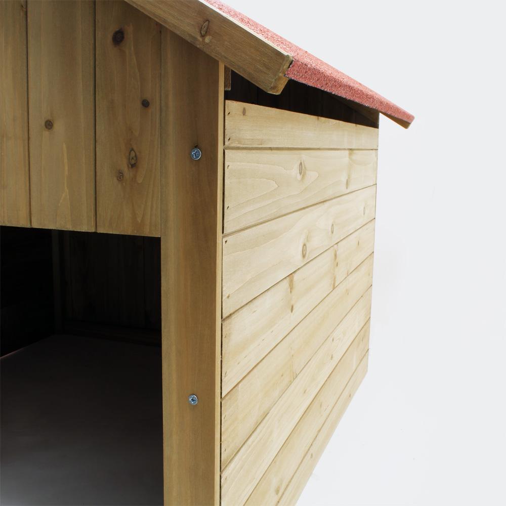 wiltec holzgarage f r m hroboter m hroboter garage aus. Black Bedroom Furniture Sets. Home Design Ideas