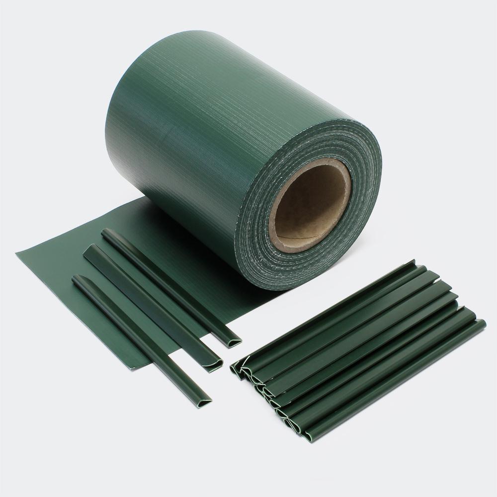 35m grün Sichtschutz Streifen PVC Sichtschutzfolie Zaunfolie Zaun