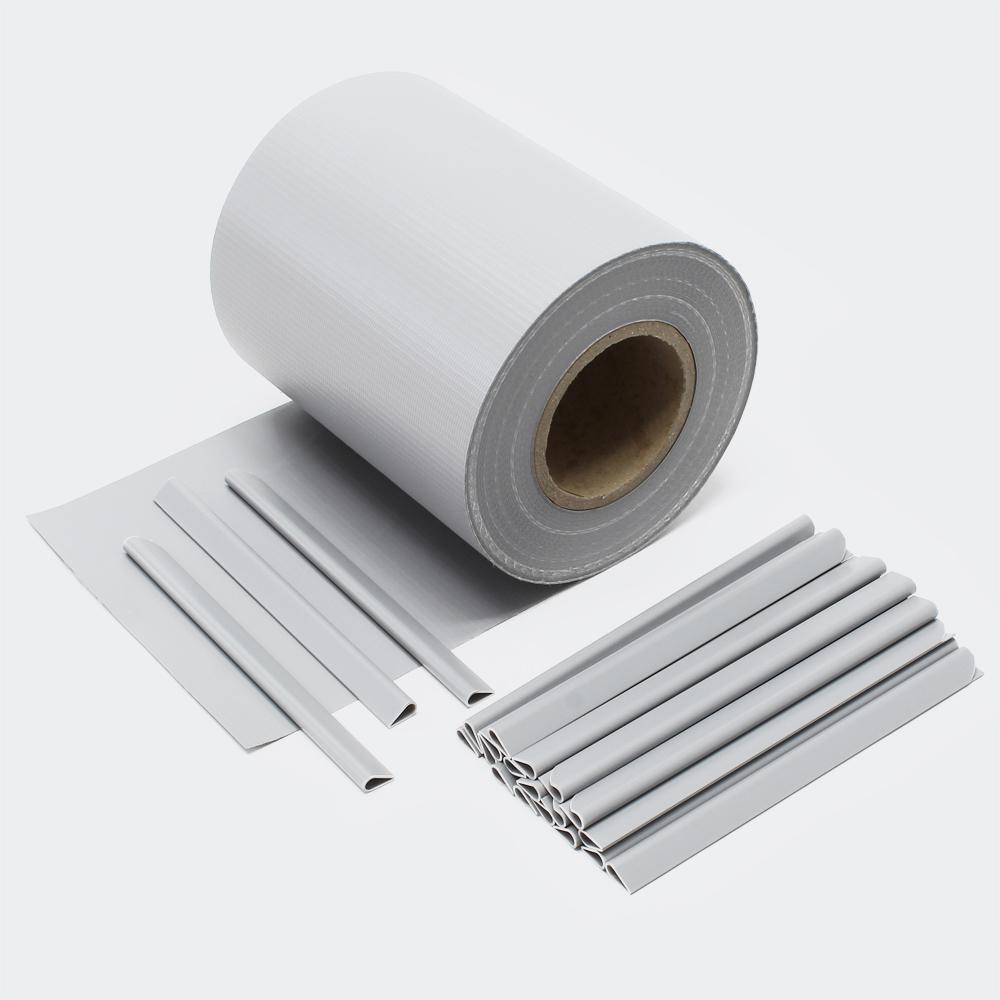 35m grau Sichtschutz Streifen PVC Sichtschutzfolie Zaunfolie Zaun