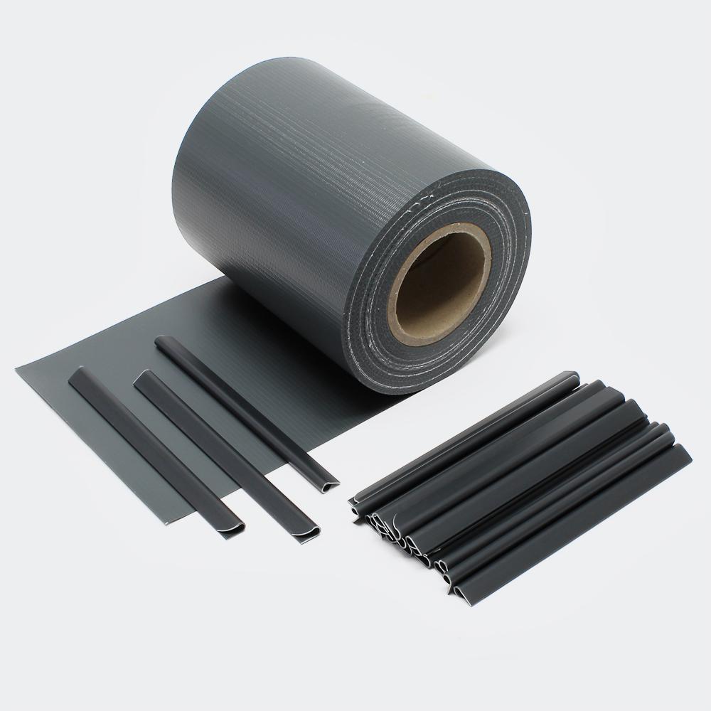 35m schwarz Sichtschutz Streifen PVC Sichtschutzfolie Zaunfolie Zaun