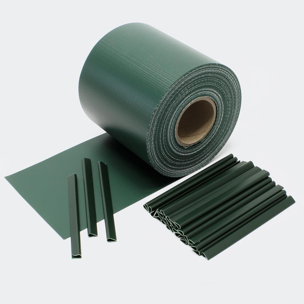 65m grün Sichtschutz Streifen PVC Sichtschutzfolie Zaunfolie Zaun
