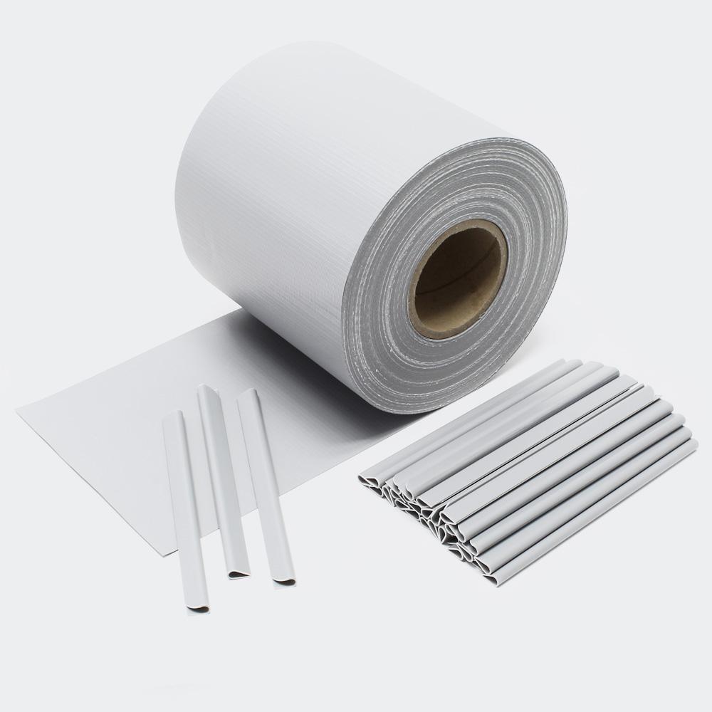 65m grau Sichtschutz Streifen PVC Sichtschutzfolie Zaunfolie Zaun