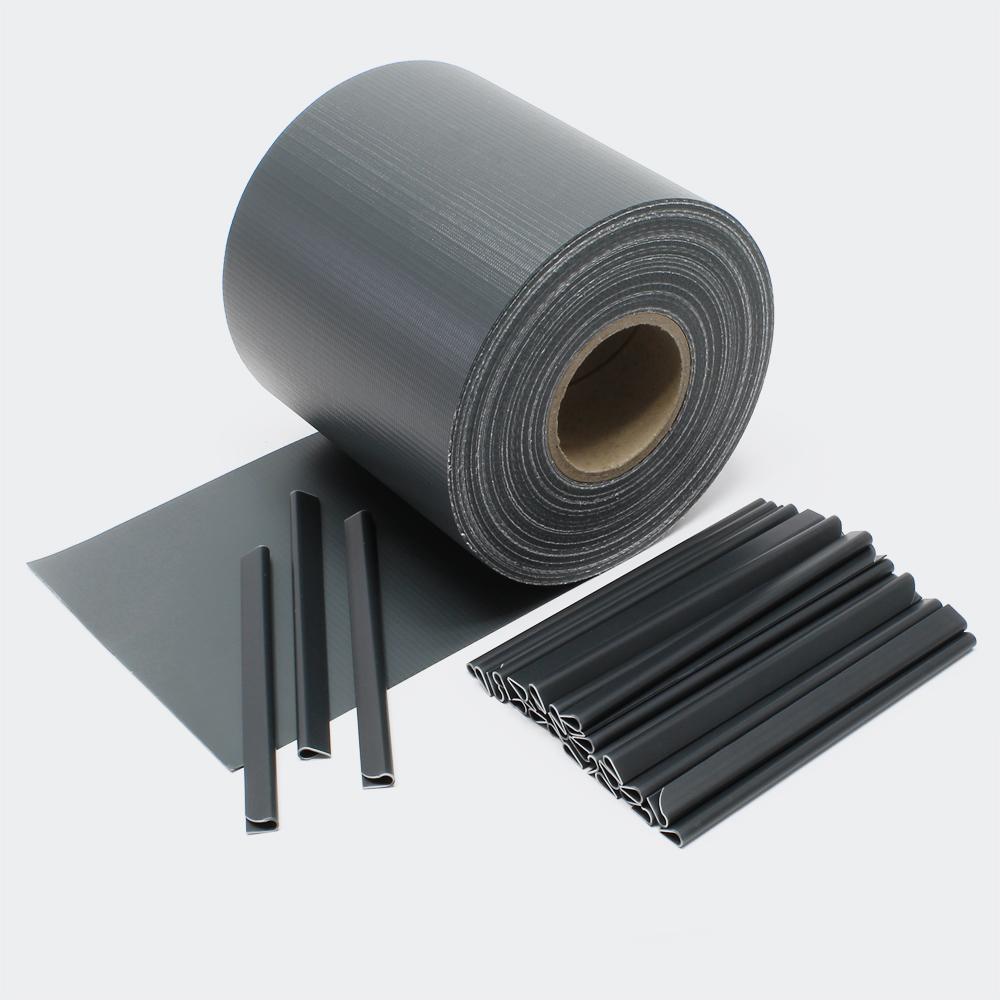 65m schwarz Sichtschutz Streifen PVC Sichtschutzfolie Zaunfolie Zaun