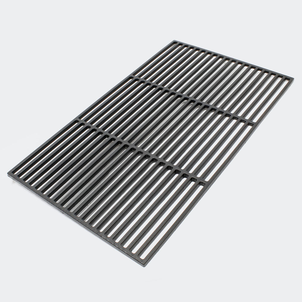 Grillrost Gusseisen eckig 60 x 40 cm Gussrost massiv emailliert Grill