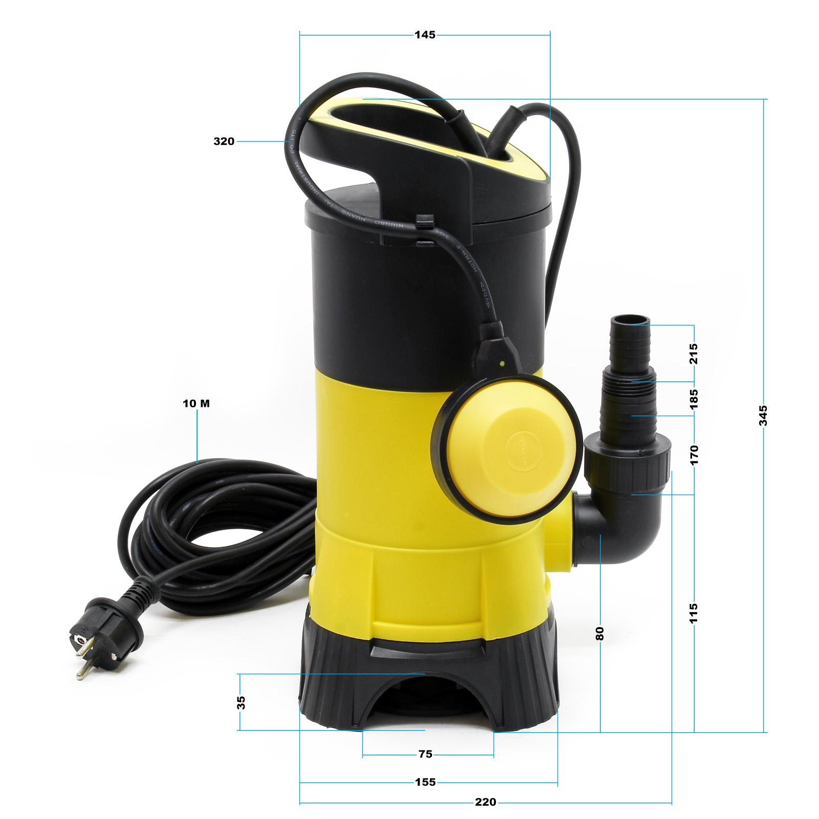 Pompe pour eaux usées avec 13000l//h 750W hauteur de refoulement 9m particules ju