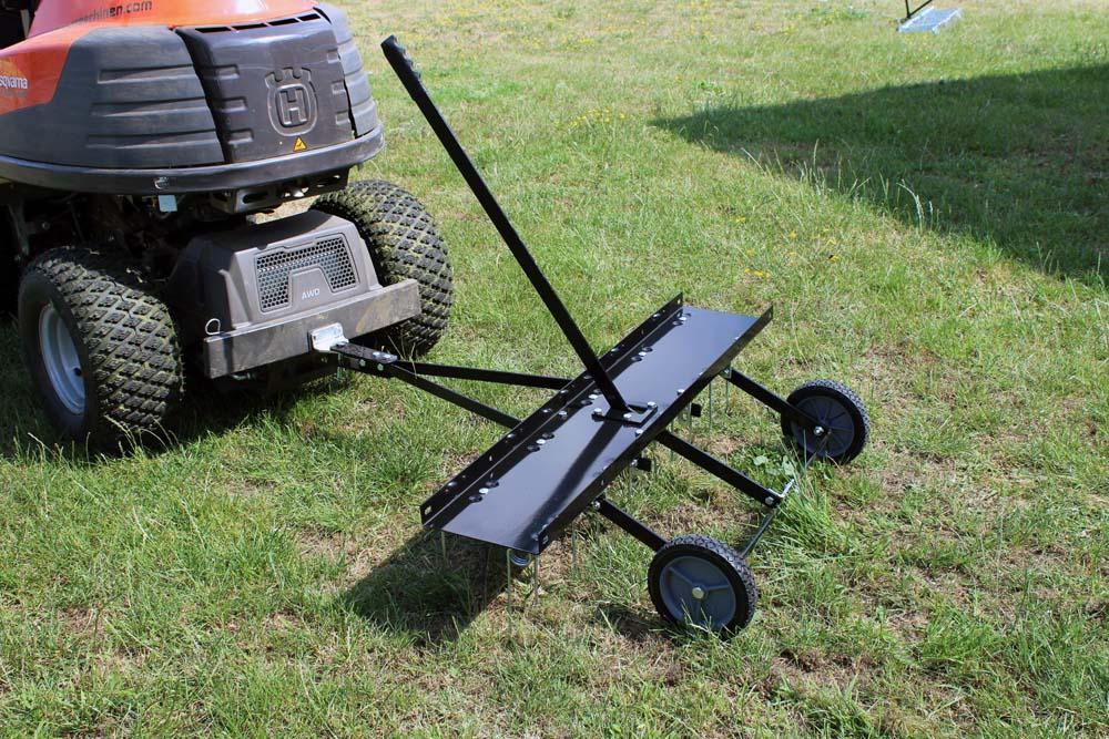 Scarificateur peigne gazon d mousseur 100cm autoport e tracteur tondeuse atv ebay - Tondeuse a gazon autoportee ...