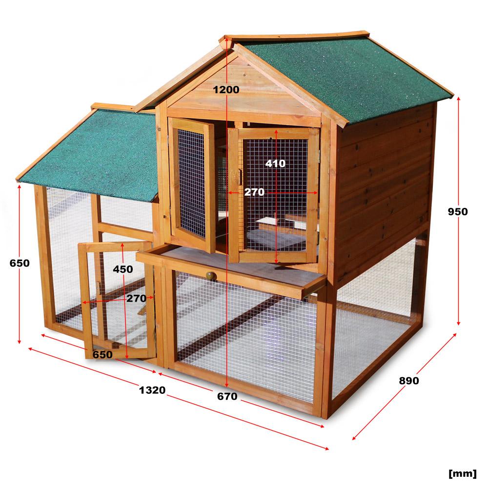 Clapier cage pour lapin poulailler abri petits animaux for Abri lapin exterieur