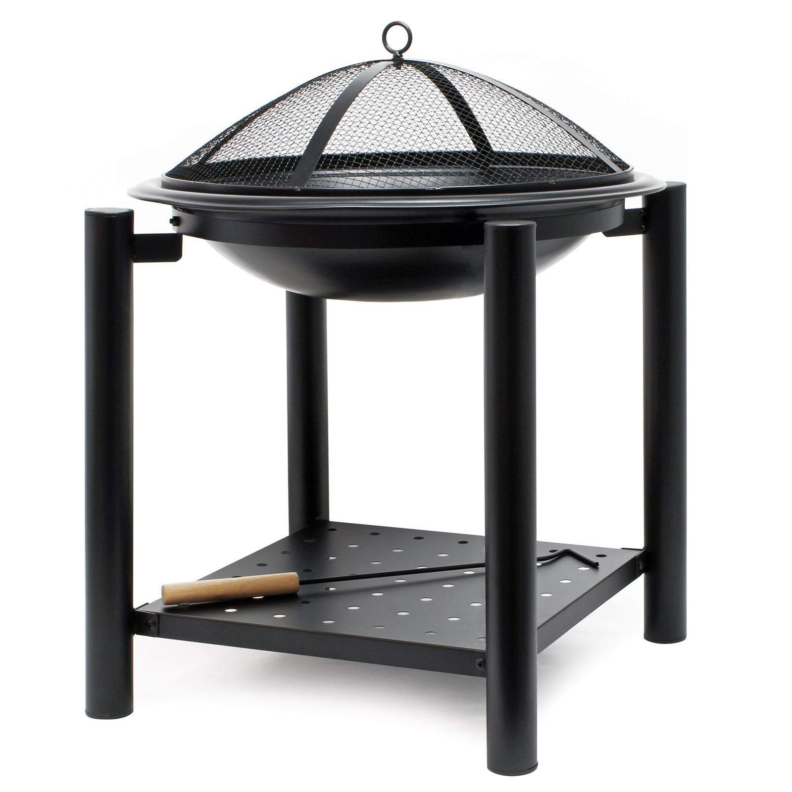 Brasero Maison Du Monde détails sur foyer 50x50cm rond brasero tisonnier bol feu gril camp jardin  terrasse barbecue