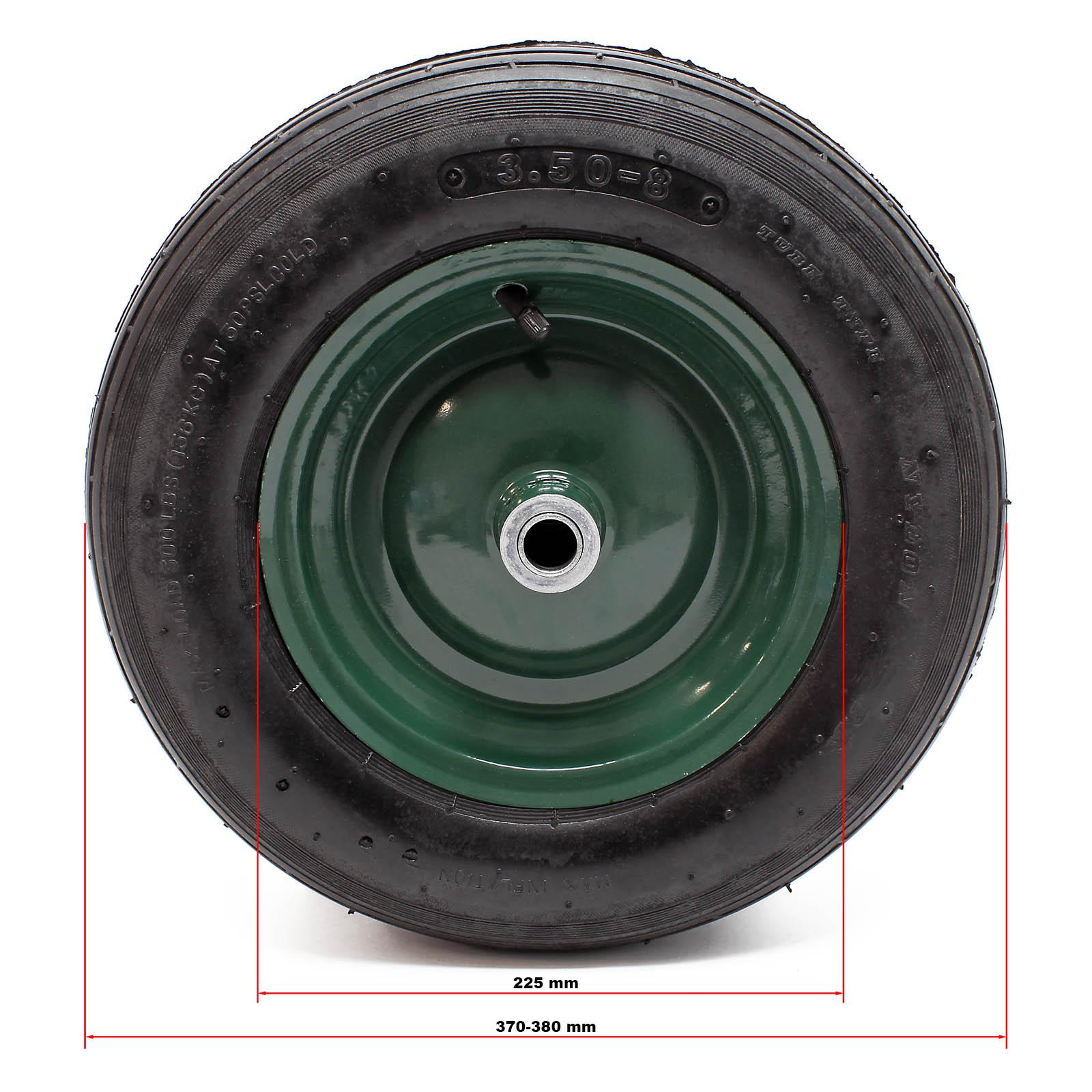 set 4 roues compl tes brouette pneu jante gonflage air pneumatique ebay. Black Bedroom Furniture Sets. Home Design Ideas