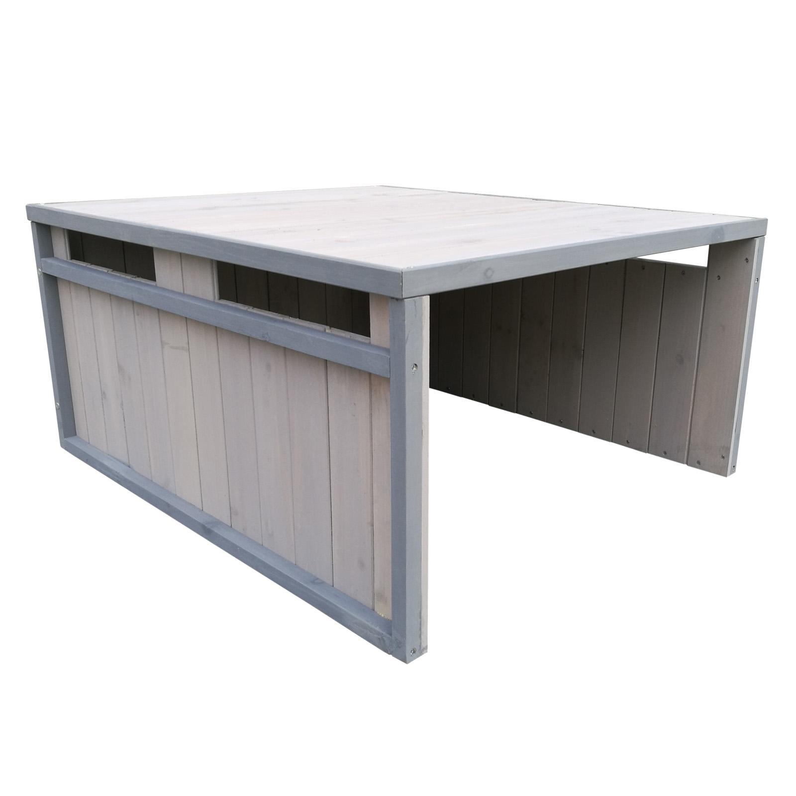 Garage robot tondeuse toit en pente bois massif abri automower gris 80x70x38cm ebay - Protection toit abri de jardin ...