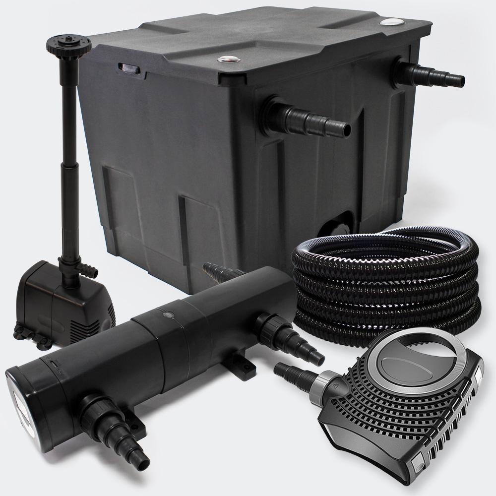 Wiltec pond filter set 12000l 36w uv clarifier supereco for Ultraviolet pond pumps
