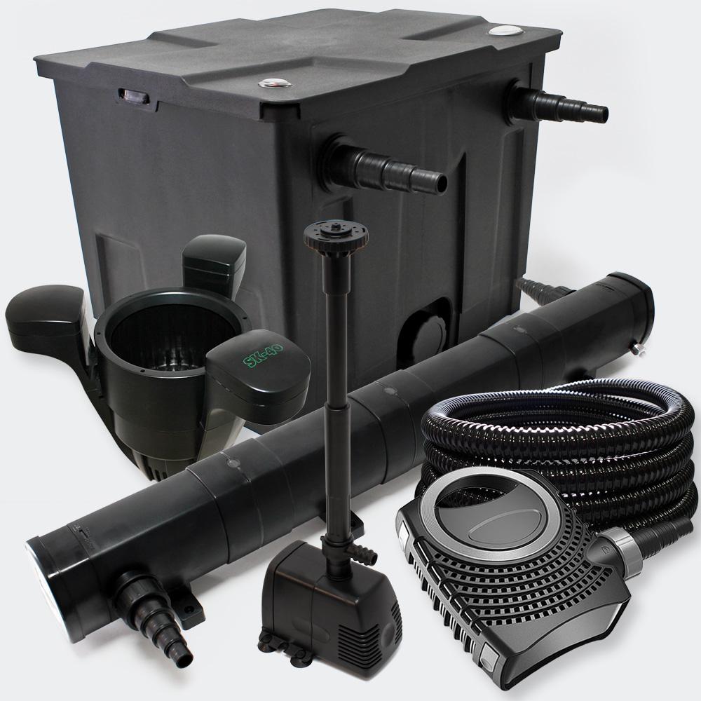 Wiltec pond filter set 12000l 72w uv clarifier pump for Pond pump and filter sets