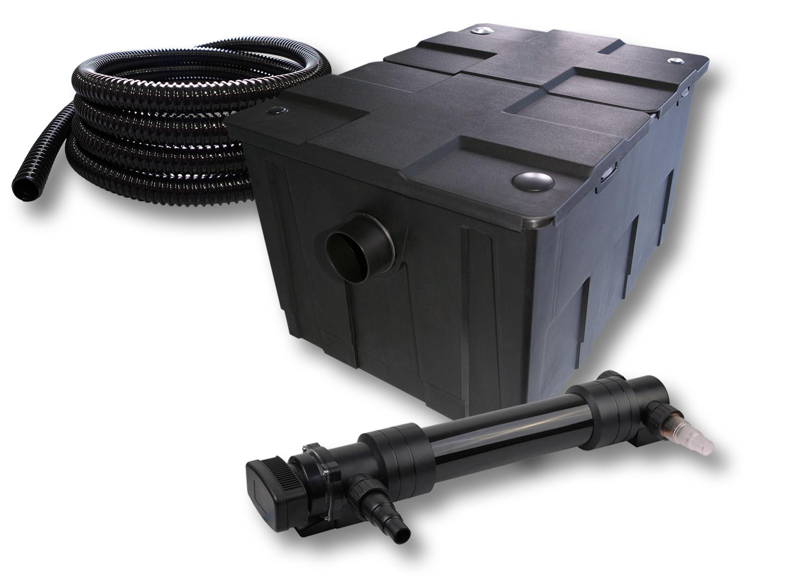 ttsunsun 1 kammer filter set 60000l mit 36w uv 6er serie teich kl rer 5m schlauc ebay. Black Bedroom Furniture Sets. Home Design Ideas
