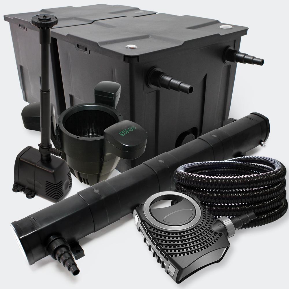 Kit filtration bassin 60000l st rilisateur uv72w pompe for Bassin filtration