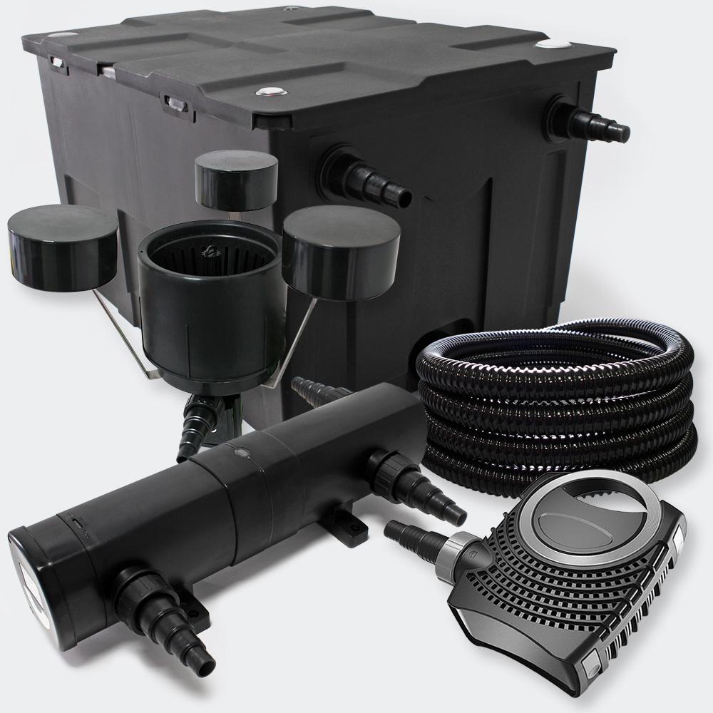 Wiltec filter set bio pond filter 60000l 36w uv for Pond pump and filter sets