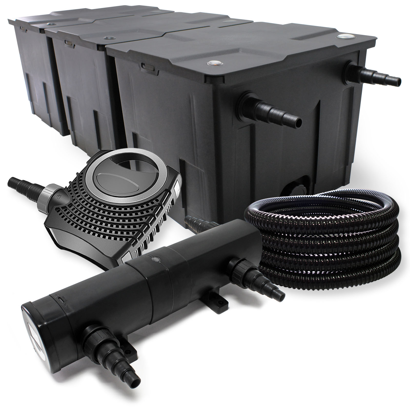 Ttfilter set bio pond filter 90000l 36w uvc clarifier pump for Set up pond filter system