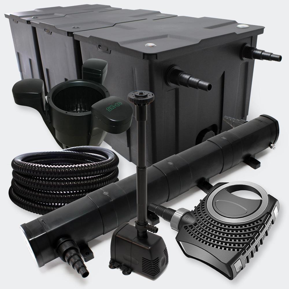 Wiltec filter set pond filter 90000l 72w uvc clarifier for Pond pump and filter sets