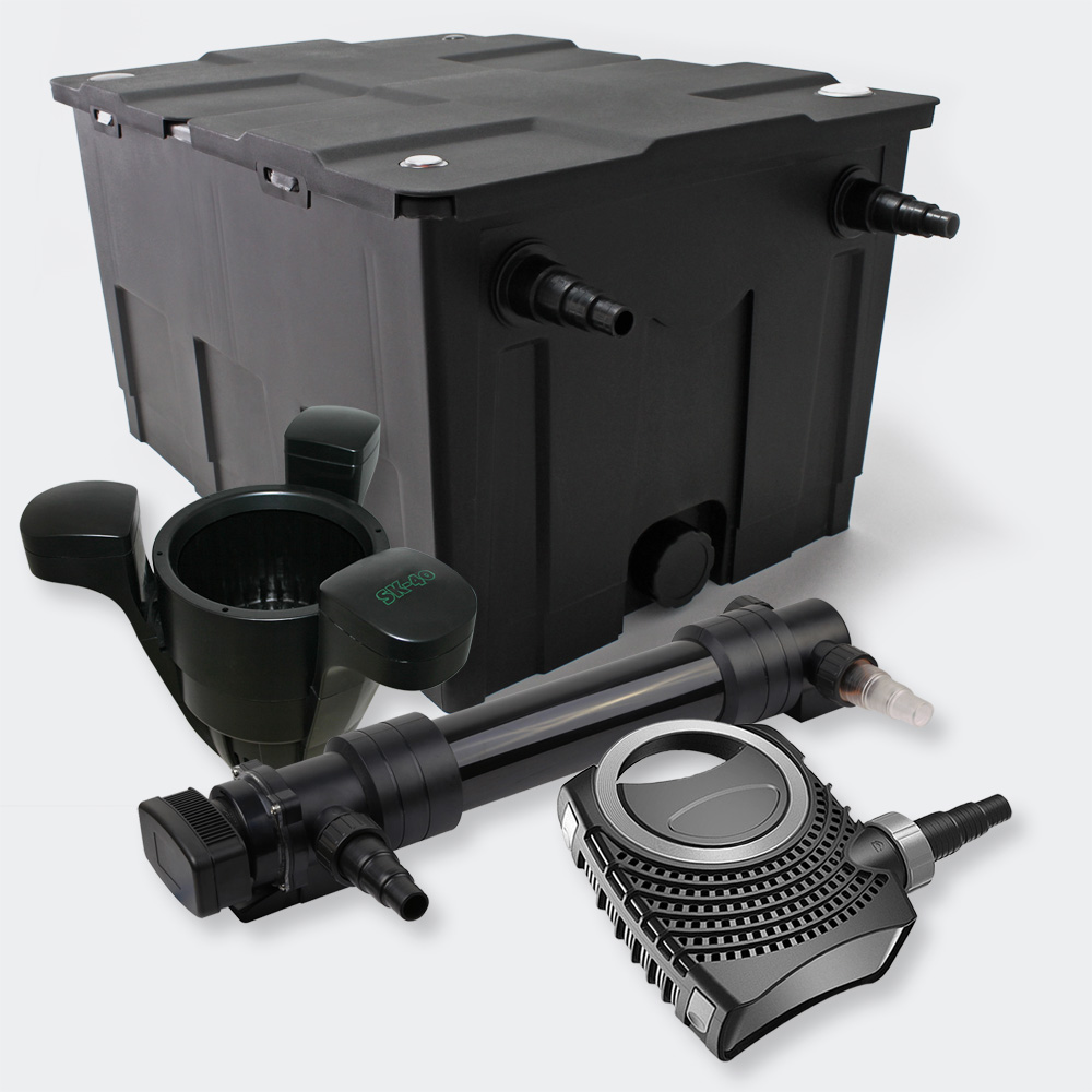 Wiltec kit filtration de bassin 60000l avec 36w uvc eco for Kit filtration bassin