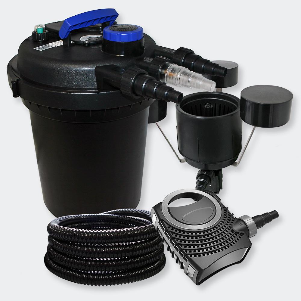 Wiltec Pressure Pond Filter Set 6000l 11w Uv Sterilizer