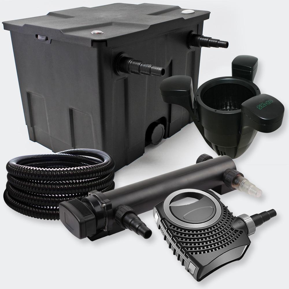 1 kammer filter set 12000l 36w uv teich kl rer 70w pumpe. Black Bedroom Furniture Sets. Home Design Ideas