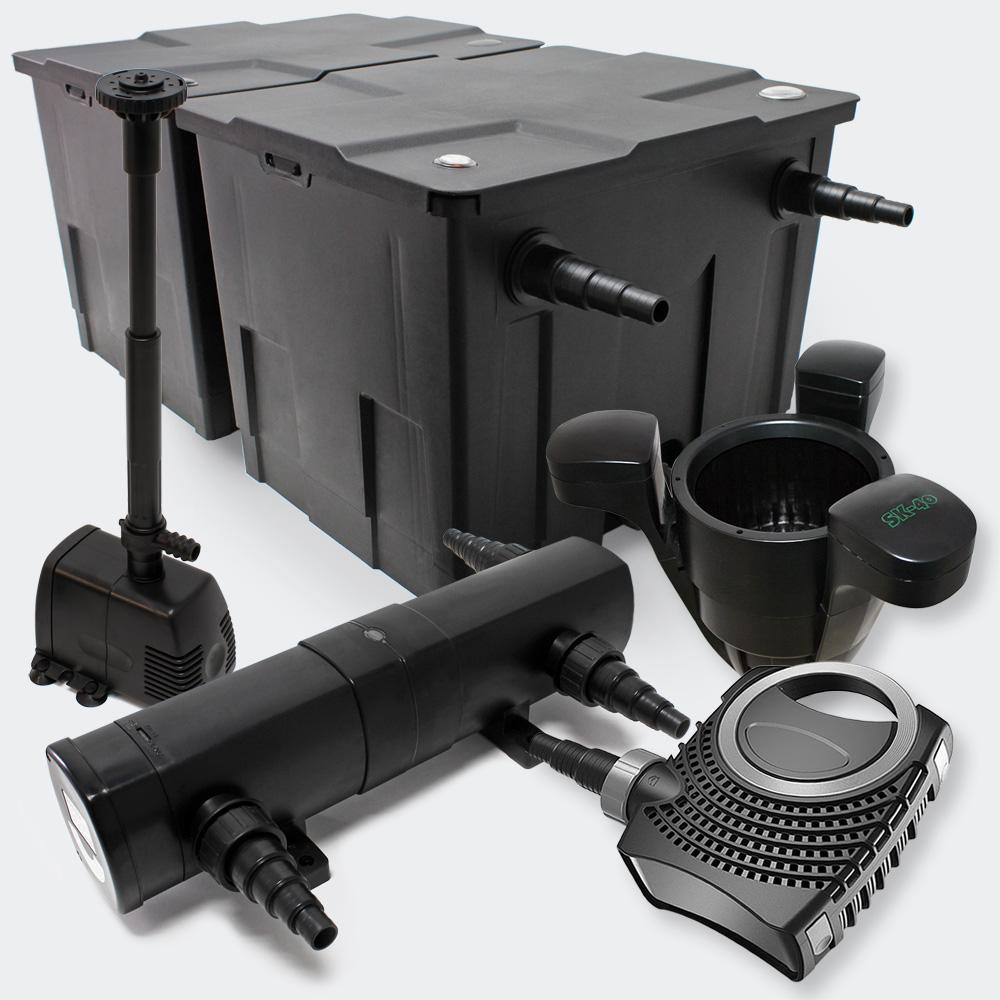 Wiltec Set Pond Filter 60000l Supereco 85w Pump 24w Uv