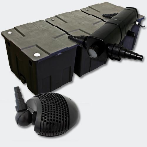 wiltec set bio filter 90000l 36w uvc kl rer 155w pumpe. Black Bedroom Furniture Sets. Home Design Ideas