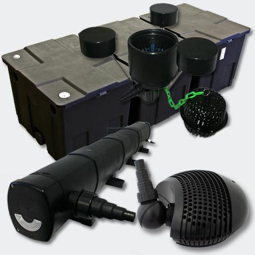 wiltec set filter 90000l 72w uvc kl rer 155w pumpe. Black Bedroom Furniture Sets. Home Design Ideas