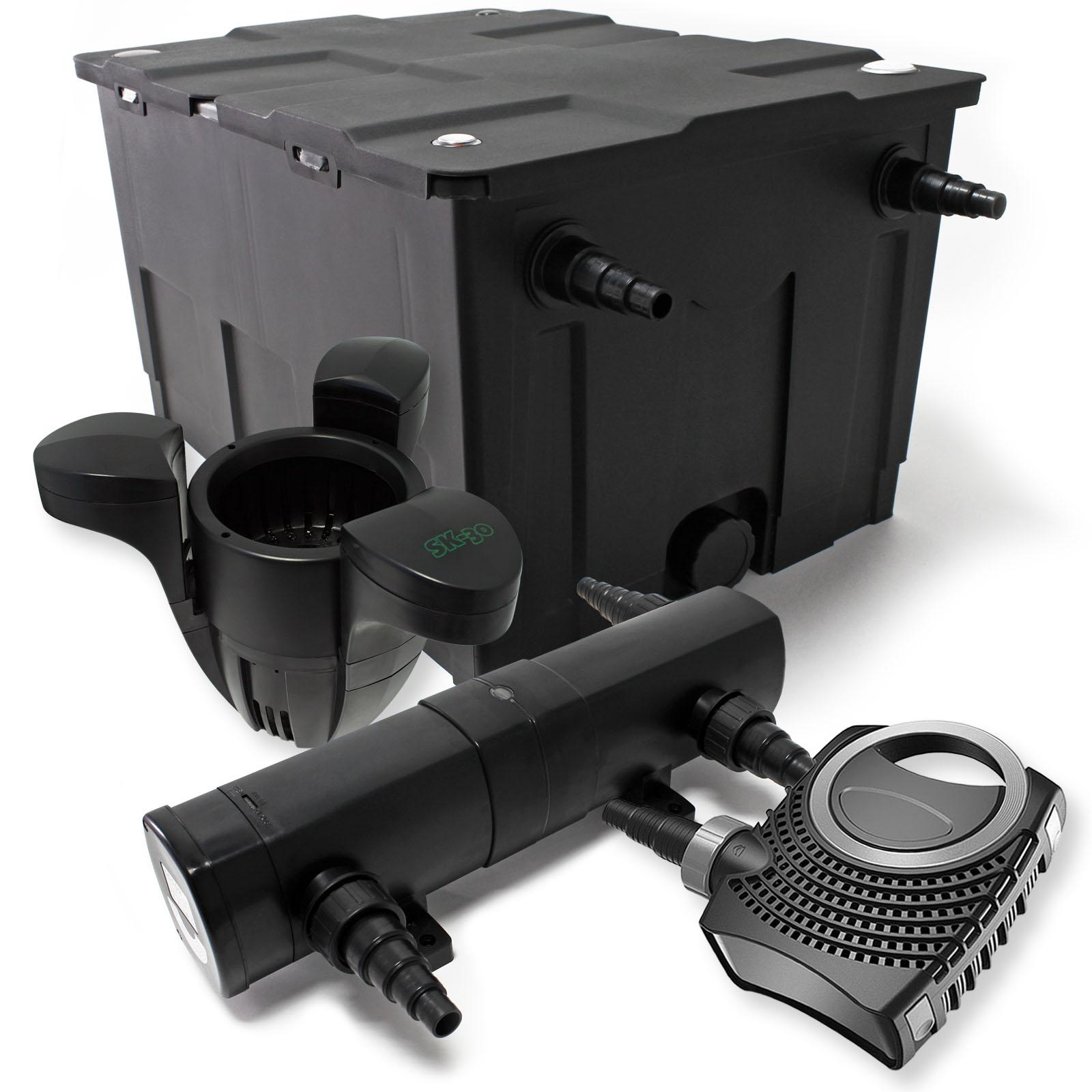 set teichfilter 60000l 18w uvc kl rer 115w pumpe skimmer 584 ebay. Black Bedroom Furniture Sets. Home Design Ideas
