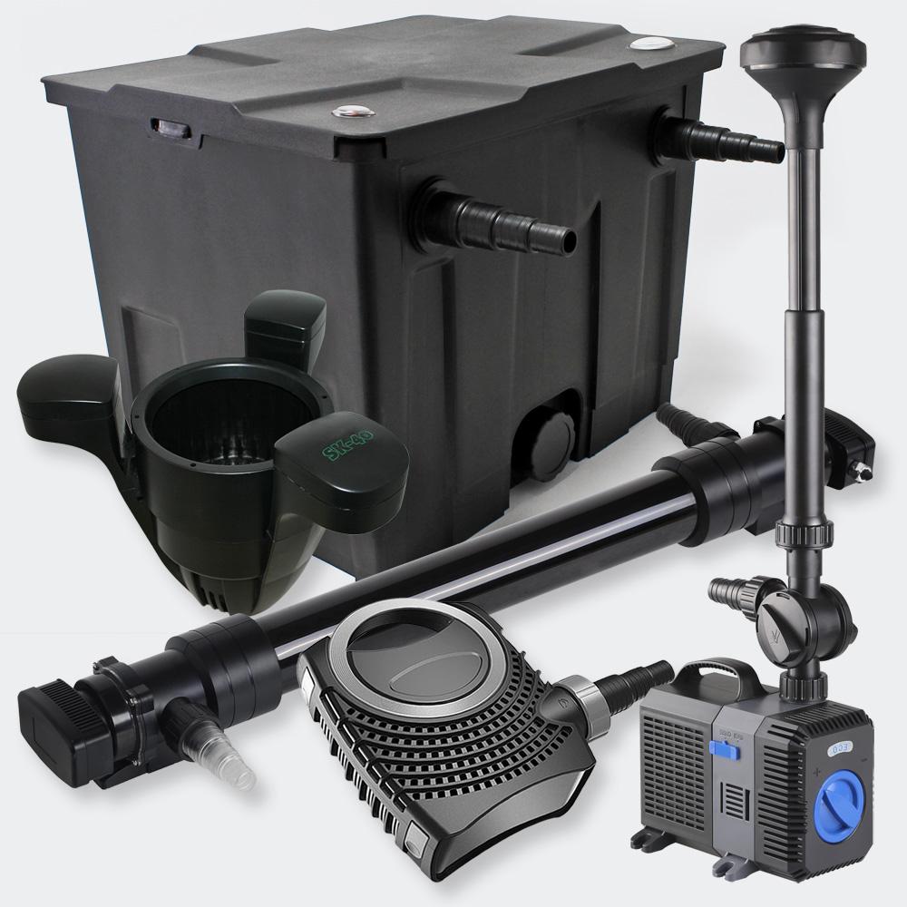 1 kammer filterset 12000l 72w uvc teich kl rer eco pumpe springbrunnen skim ebay. Black Bedroom Furniture Sets. Home Design Ideas
