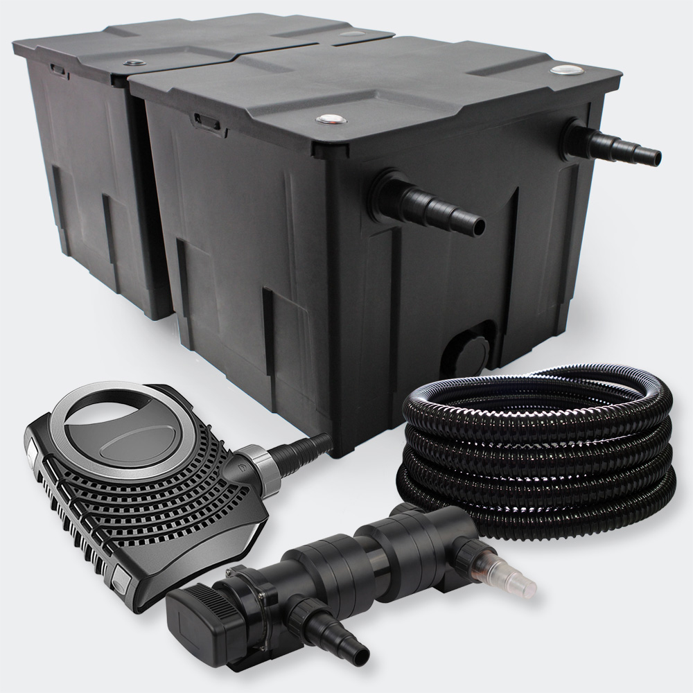 Wiltec kit filtration de bassin 60000l avec 18w uvc ctf for Filtration de bassin