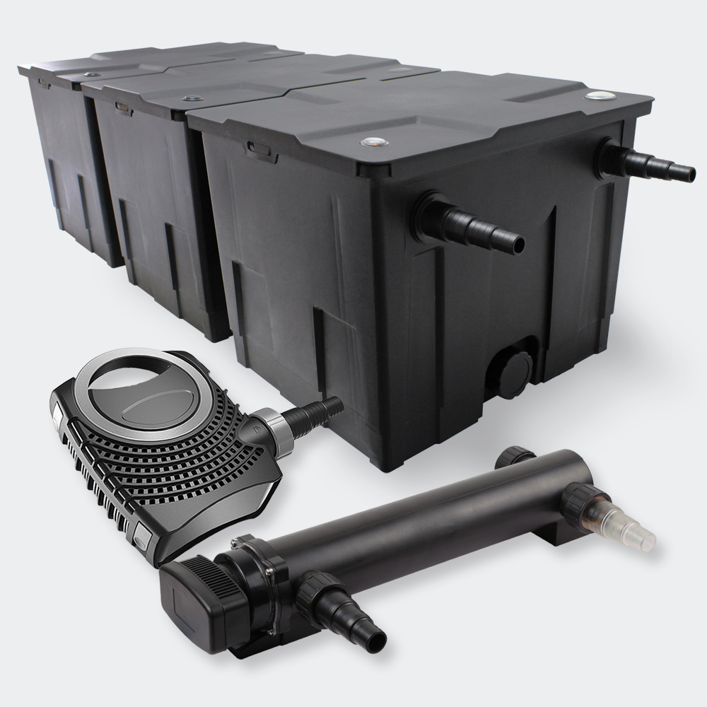 Wiltec sunsun filter set 90000l 36w uvc pond clarifier for Pond pump and filter sets