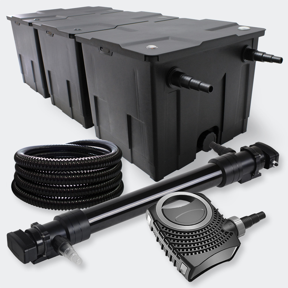 Wiltec filter set 90000l 72w uvc pond clarifier 10000 for Pond pump and filter sets
