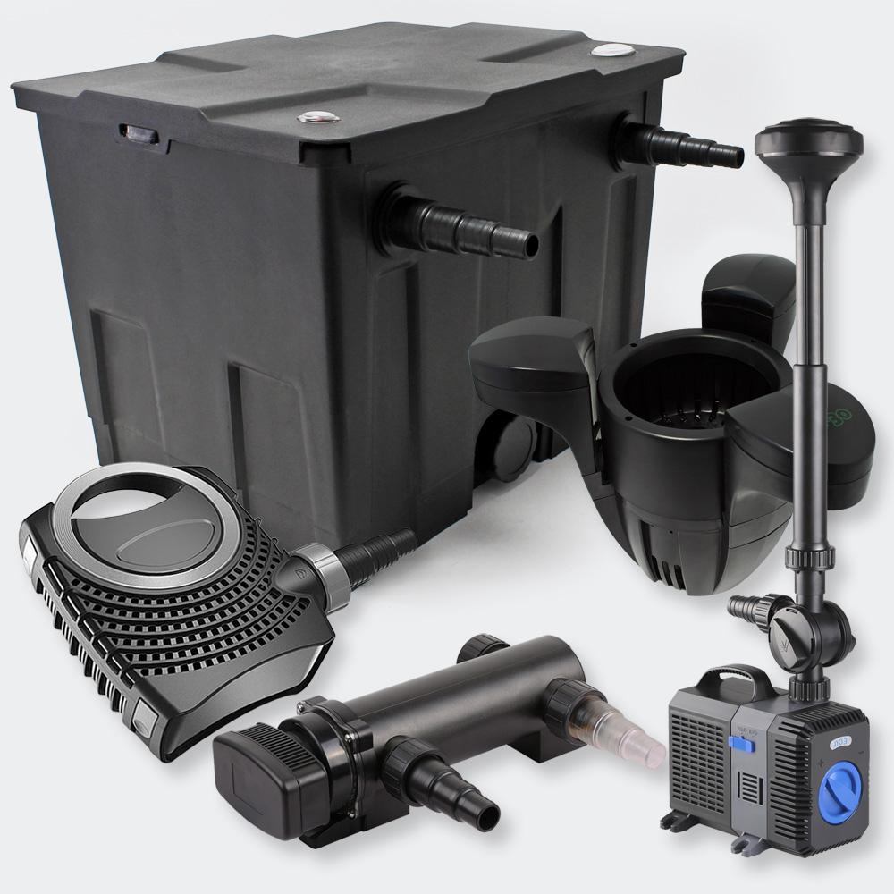 1 kammer filterset 12000l 18w uvc teich kl rer pumpe 70w. Black Bedroom Furniture Sets. Home Design Ideas