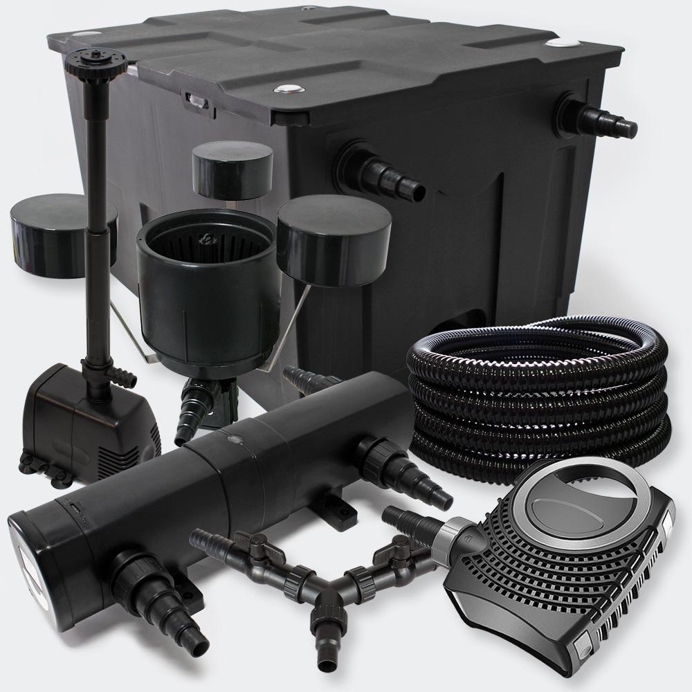 Wiltec kit filtration bassin 60000l 24w uvc 70w pompe tuyau skimmer fontaine kit filtration - Pompe et filtration pour bassin ...