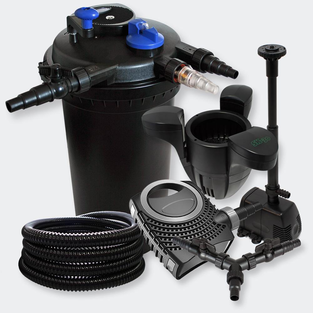 Wiltec kit filtration bassin 30000l 18w uvc 80w pompe for Kit filtration bassin