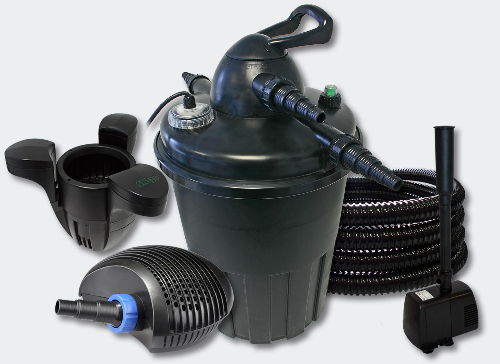 Wiltec kit filtration bassin 15000l 24 uvc 40w pompe for Kit filtration bassin