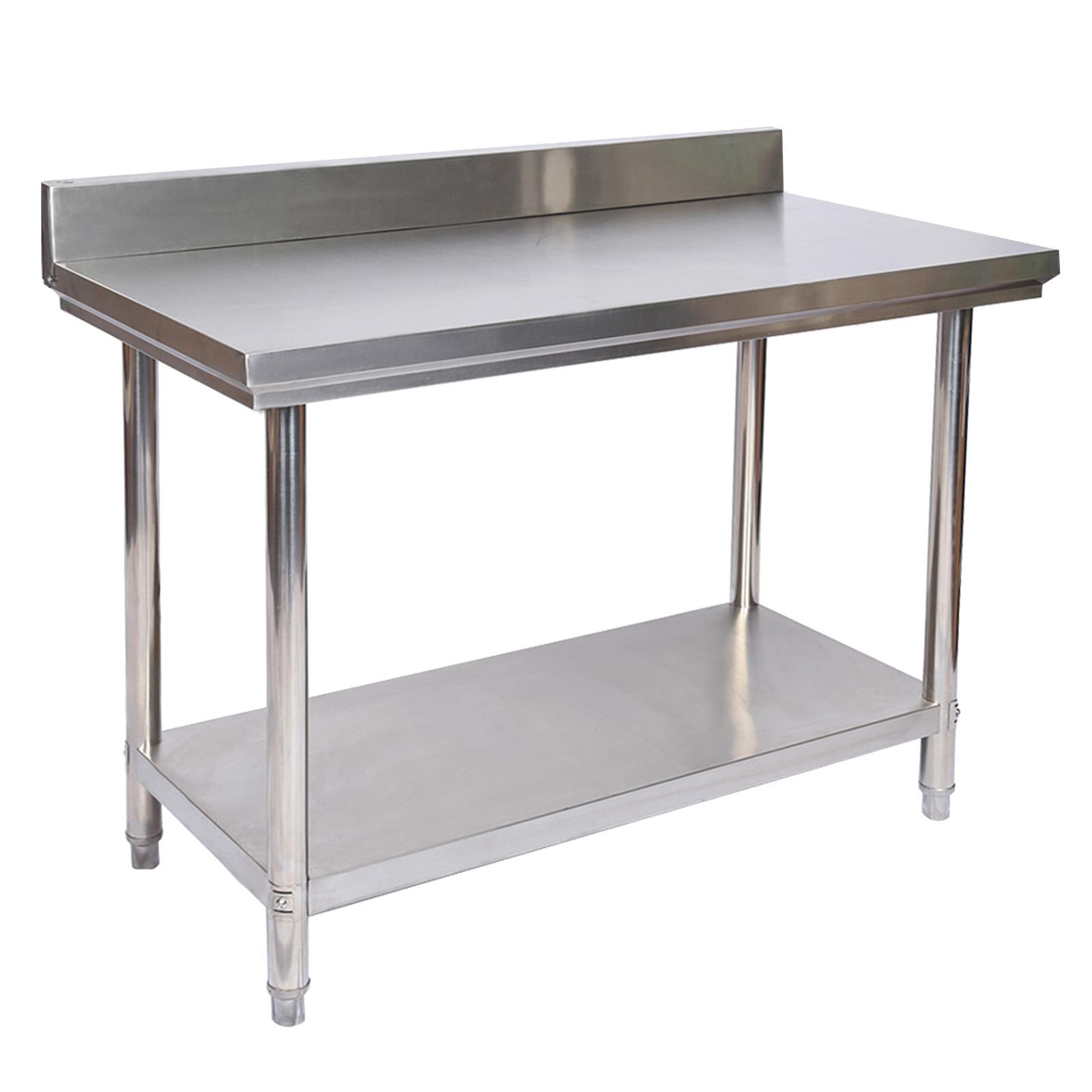 Table de travail Acier inoxydable avec rebord de protection 12 x ...