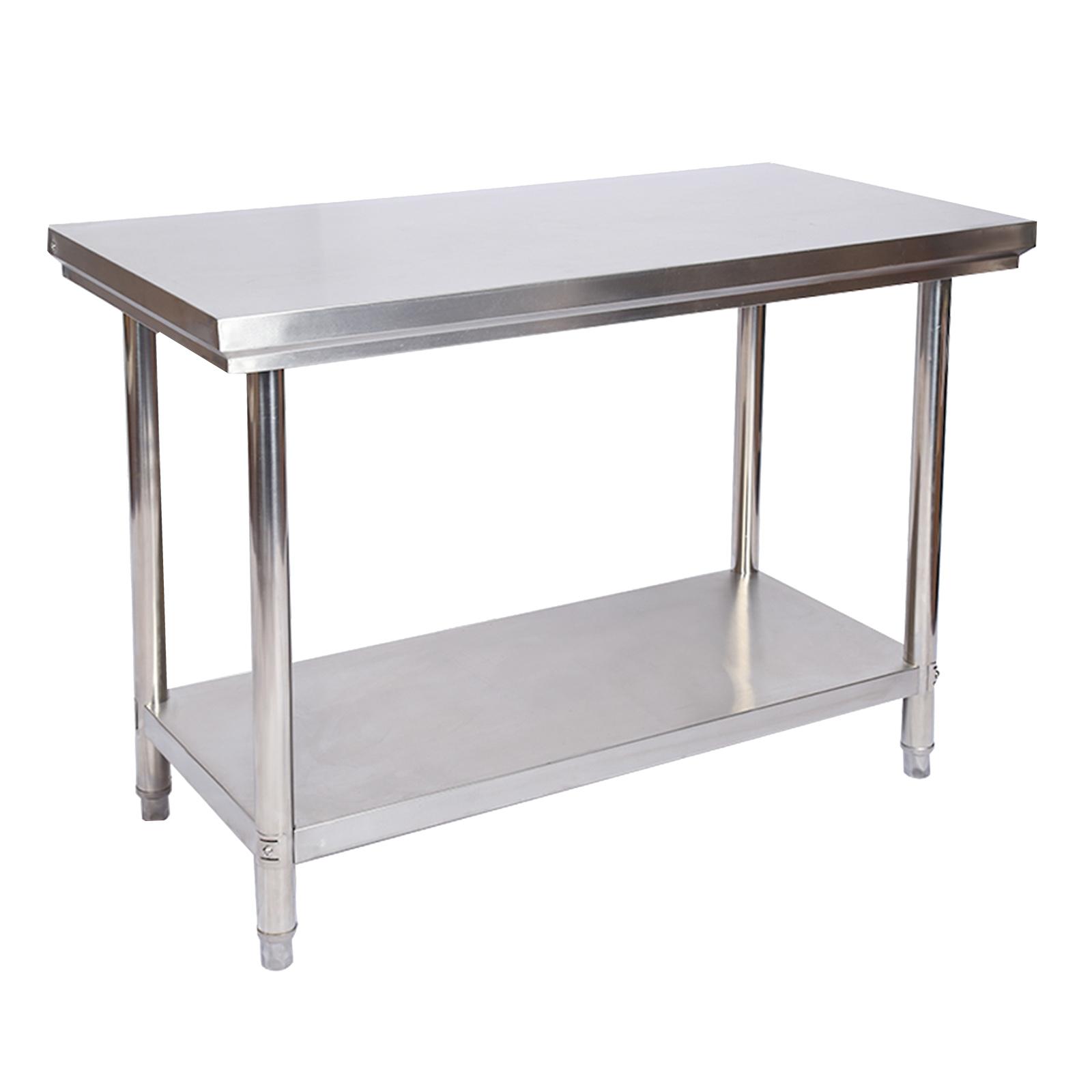 Edelstahl Tisch Arbeitstisch Edelstahltisch Gartentisch 100 X 60 X