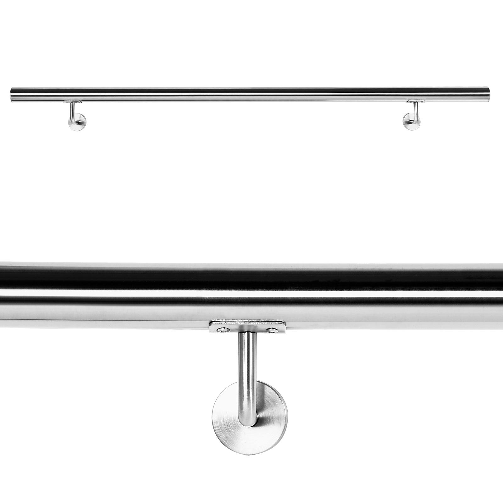handlauf set wandhalter halterung gel nder treppe haltegriff edelstahl v2a ebay. Black Bedroom Furniture Sets. Home Design Ideas