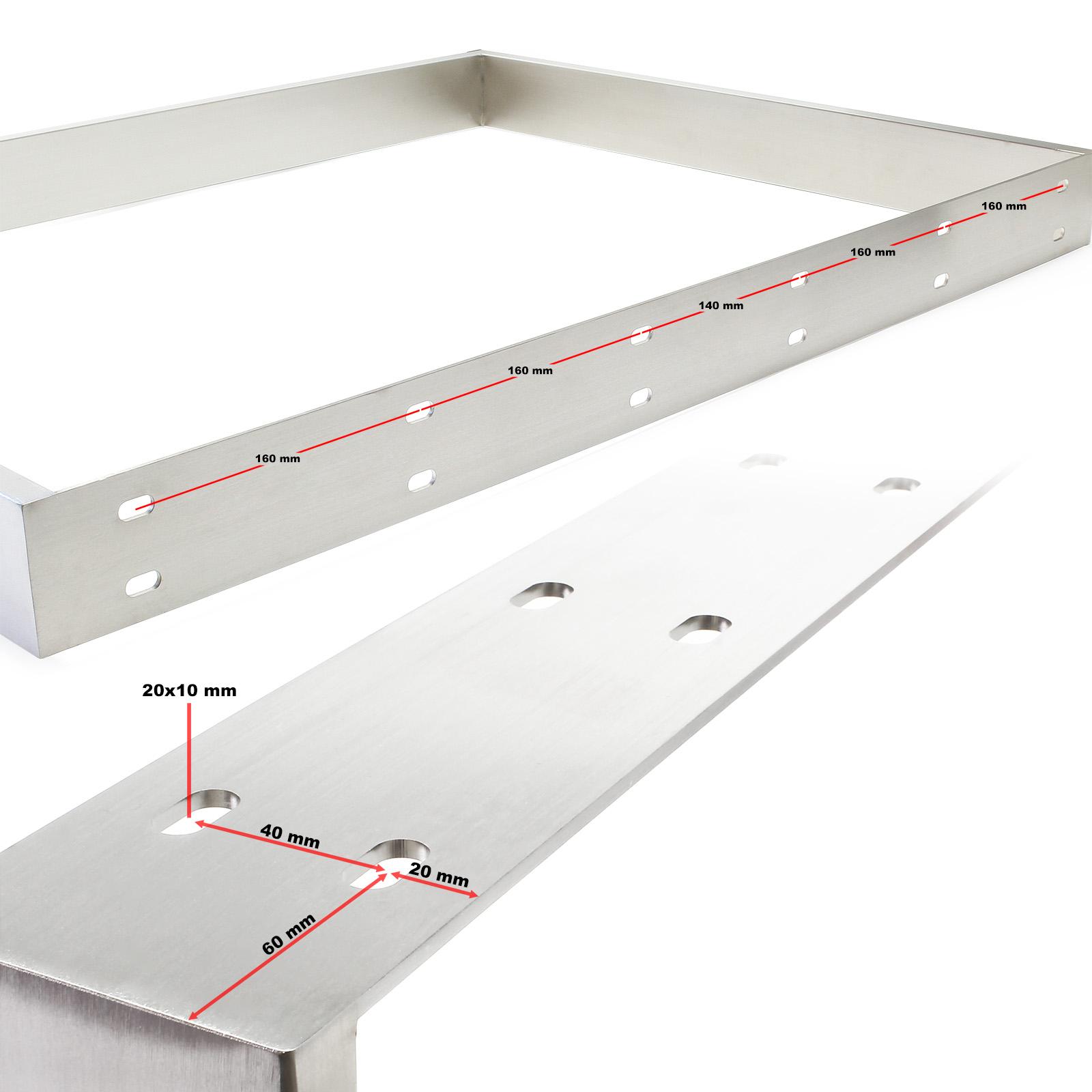 Tischgestell 90x73cm Edelstahl Tischuntergestell Tischkufe