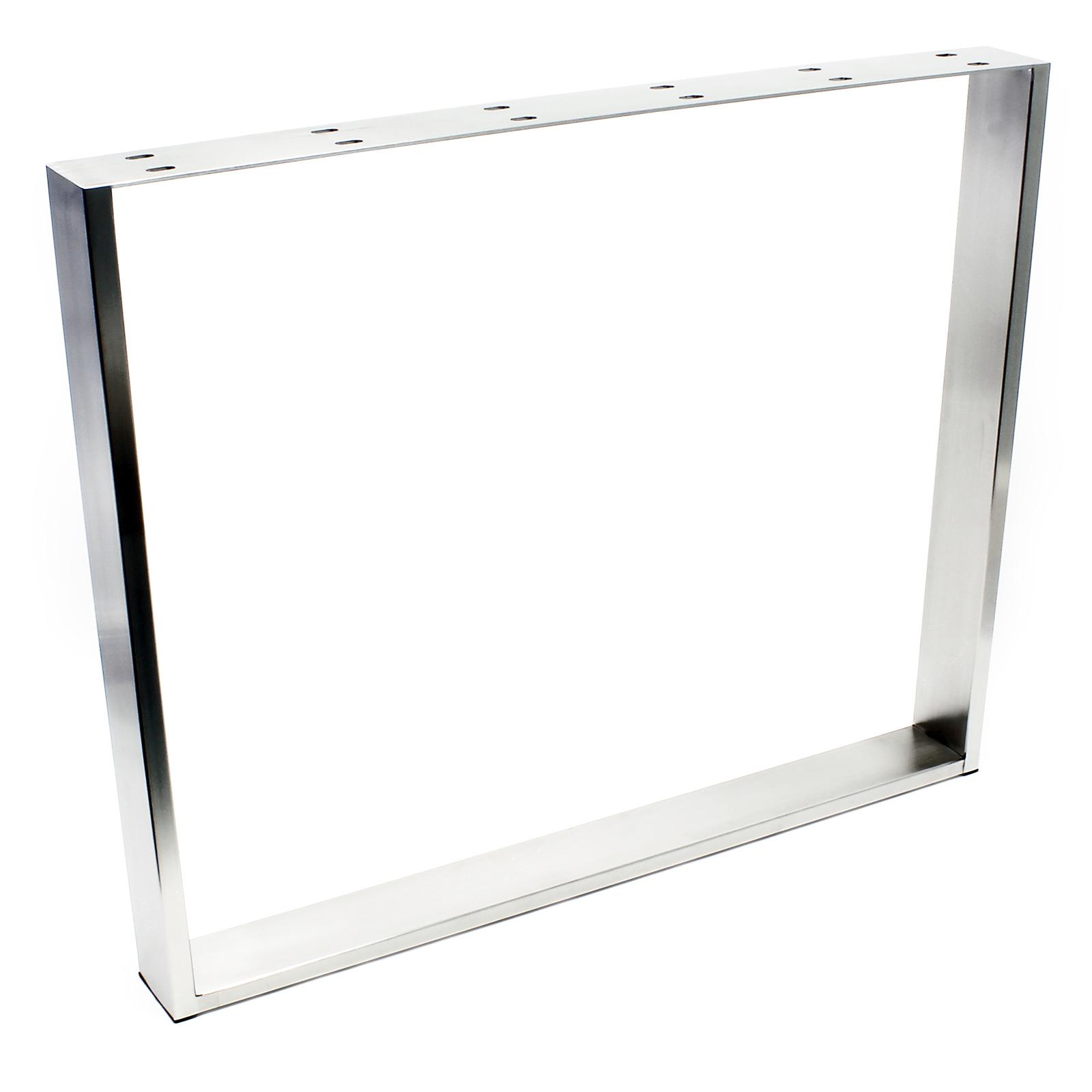tischgestell 90x73cm edelstahl tischuntergestell tischkufe kufengestell tisch ebay. Black Bedroom Furniture Sets. Home Design Ideas