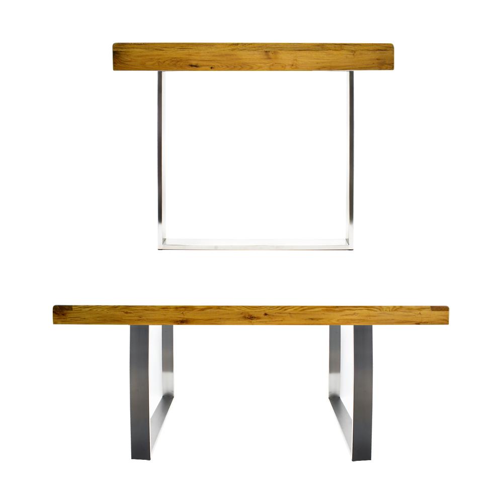 tischgestell 80x73cm edelstahl tischuntergestell tischkufe kufengestell tisch 4250390891191 ebay. Black Bedroom Furniture Sets. Home Design Ideas